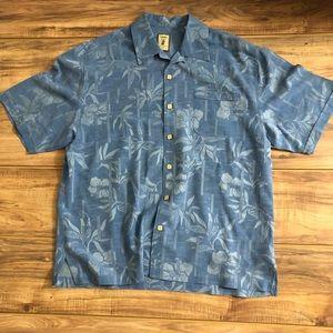 865cd3012 jamaica jaxx · Hawaiian Short Sleeve Shirt 100% Silk Wood Buttons